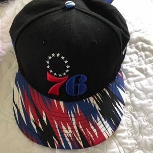 New Era Sixers Hat,one size fits all.EUC